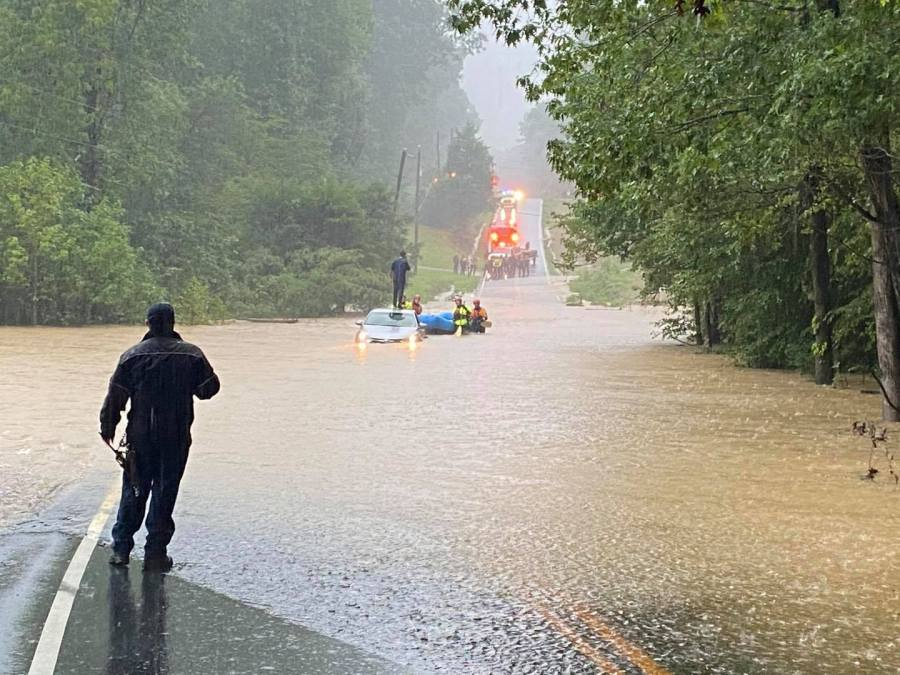 Flooding on Otterdale Road in Chesterfield County