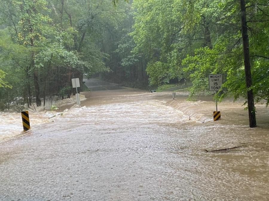 Flooding on Spring Run Road in Chesterfield County