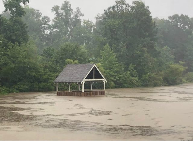 A dock and gazebo in The Highlands neighborhood in Chesterfield County