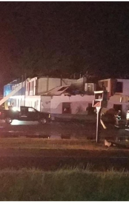 Damage at the Palm Tree Inn in Courtland, Virginia