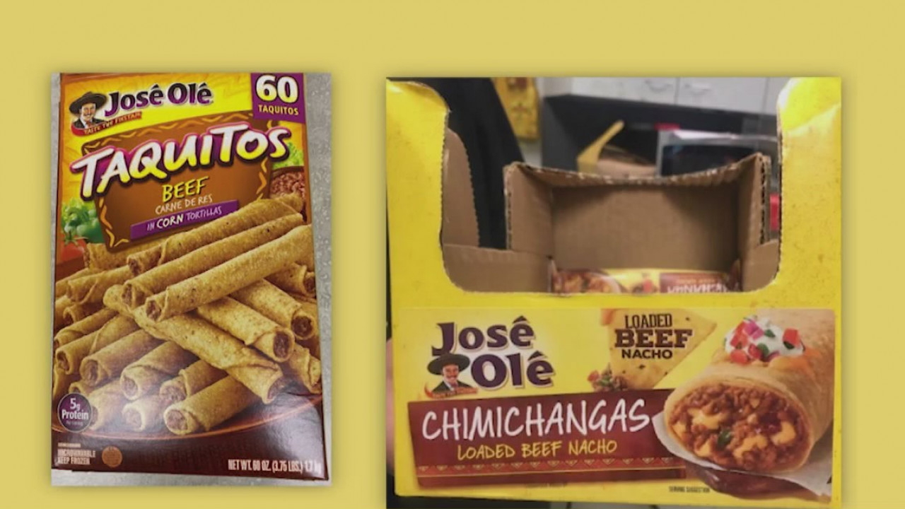 Department Of Agriculture Recalls Frozen Beef And Chicken Taquitos And Chimichangas 8news