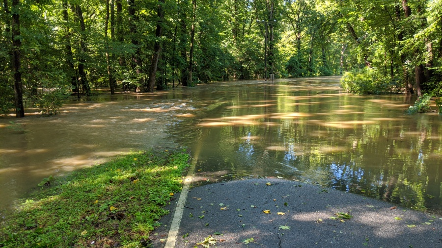 Flooding on Kingsland Road in Henrico County