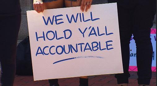 Sign at rally in Richmond, Va.