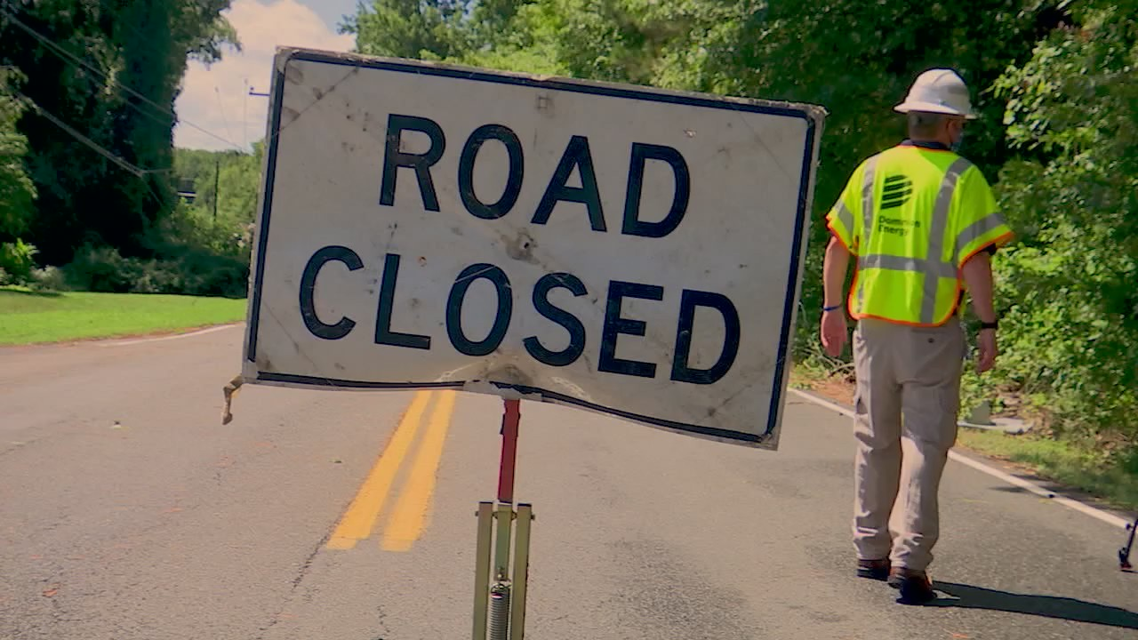 road_closed_dominion_energy_power_restoration_efforts