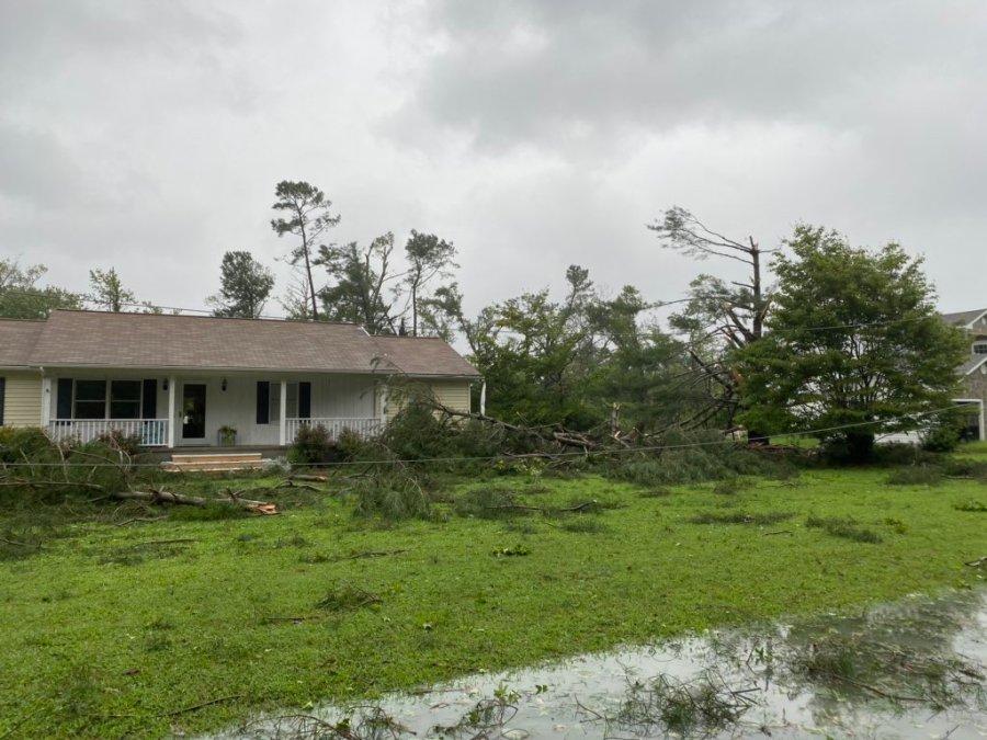 Storm damage in Whitestone, Virginia