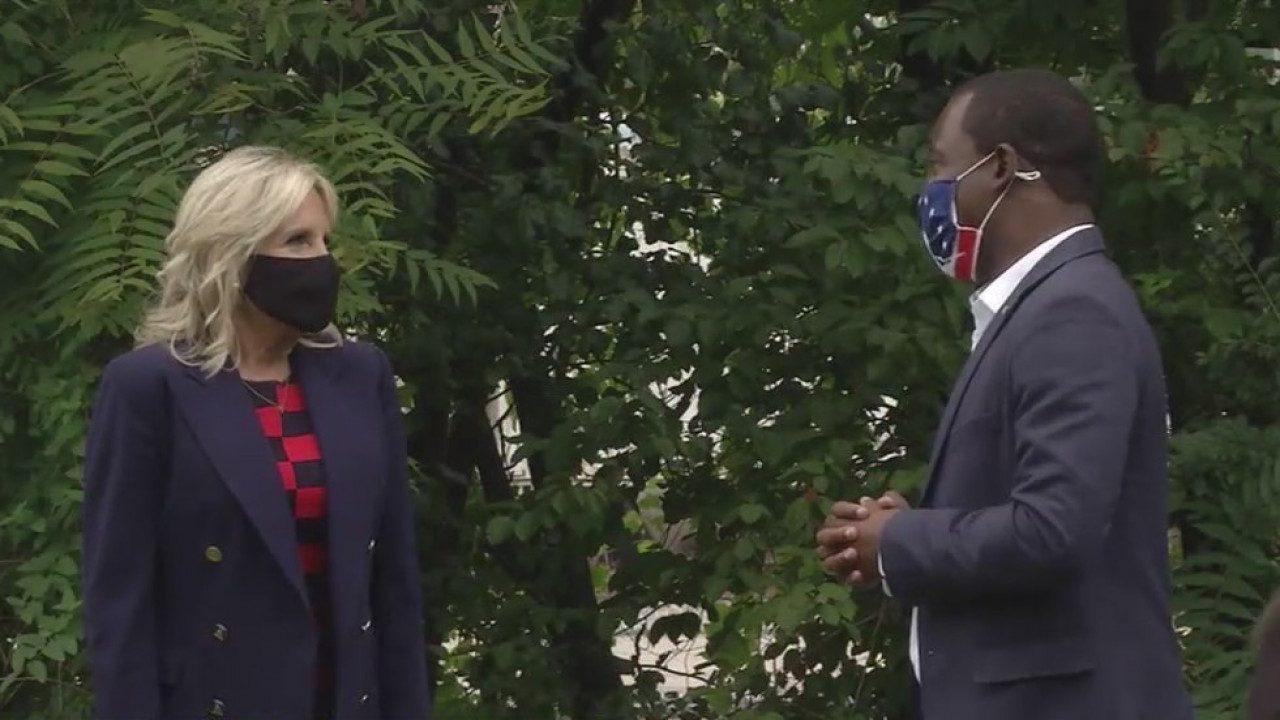 Dr. Jill Biden with Richmond Mayor Levar Stoney