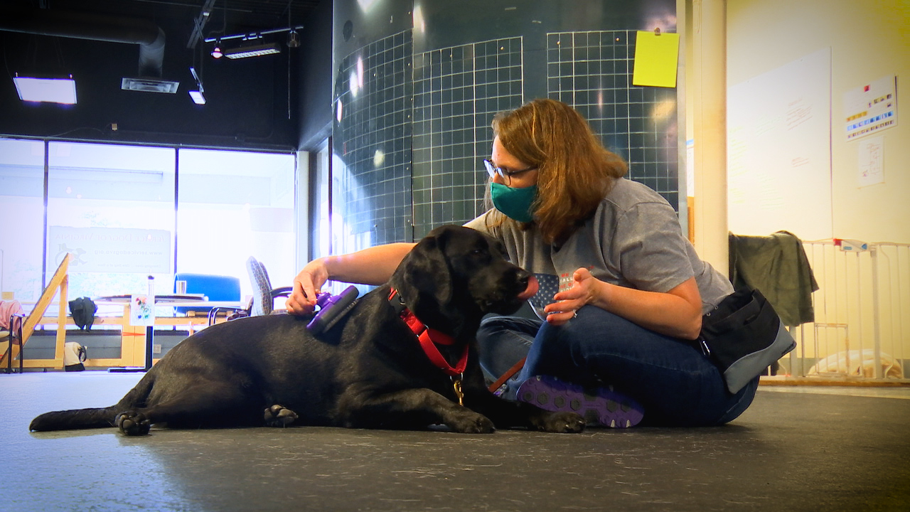 Michelle and her service dog, Dottie. (Photo provided by Service Dogs of Virginia)