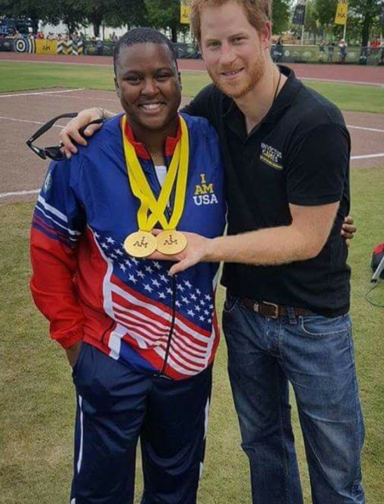 Retired Army Sgt. Monica Southall and Prince Harry, Duke of Sussex