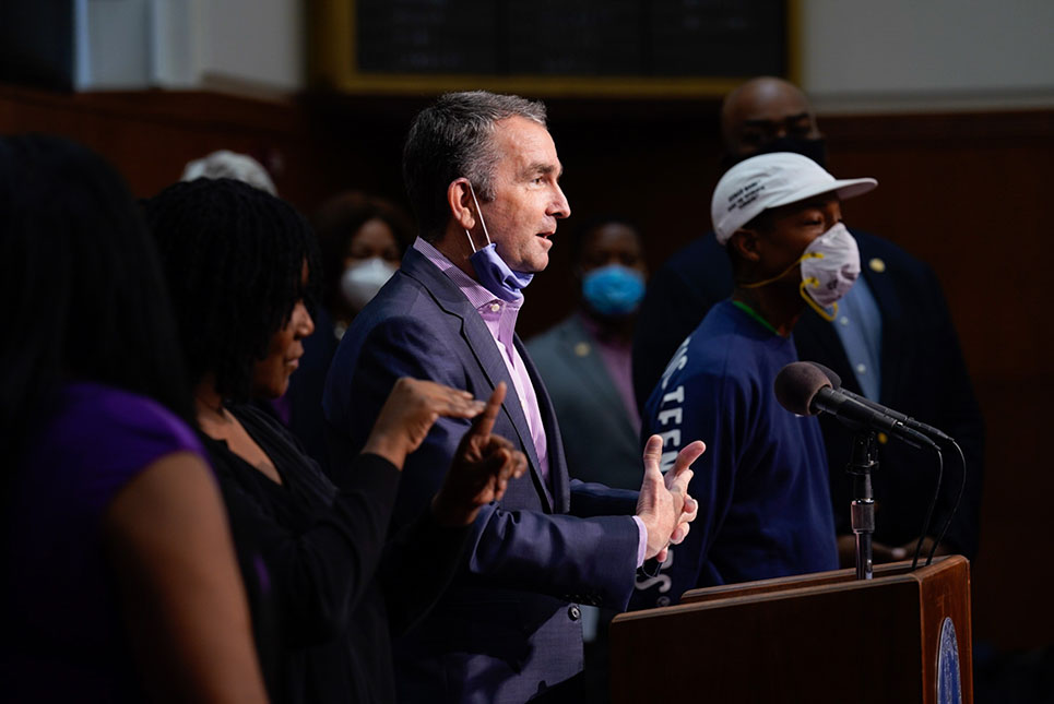 Northam proposed making Juneteenth a state holiday in June
