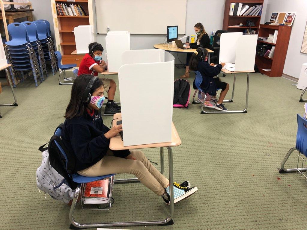 A classroom at Harmony Public Schools (KXAN Photo)