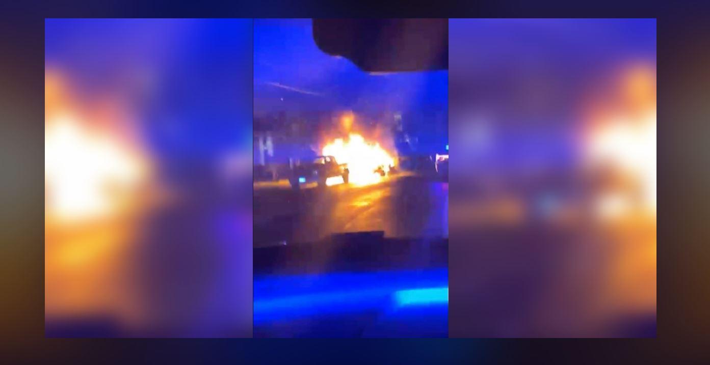 Manassas car fire rescue