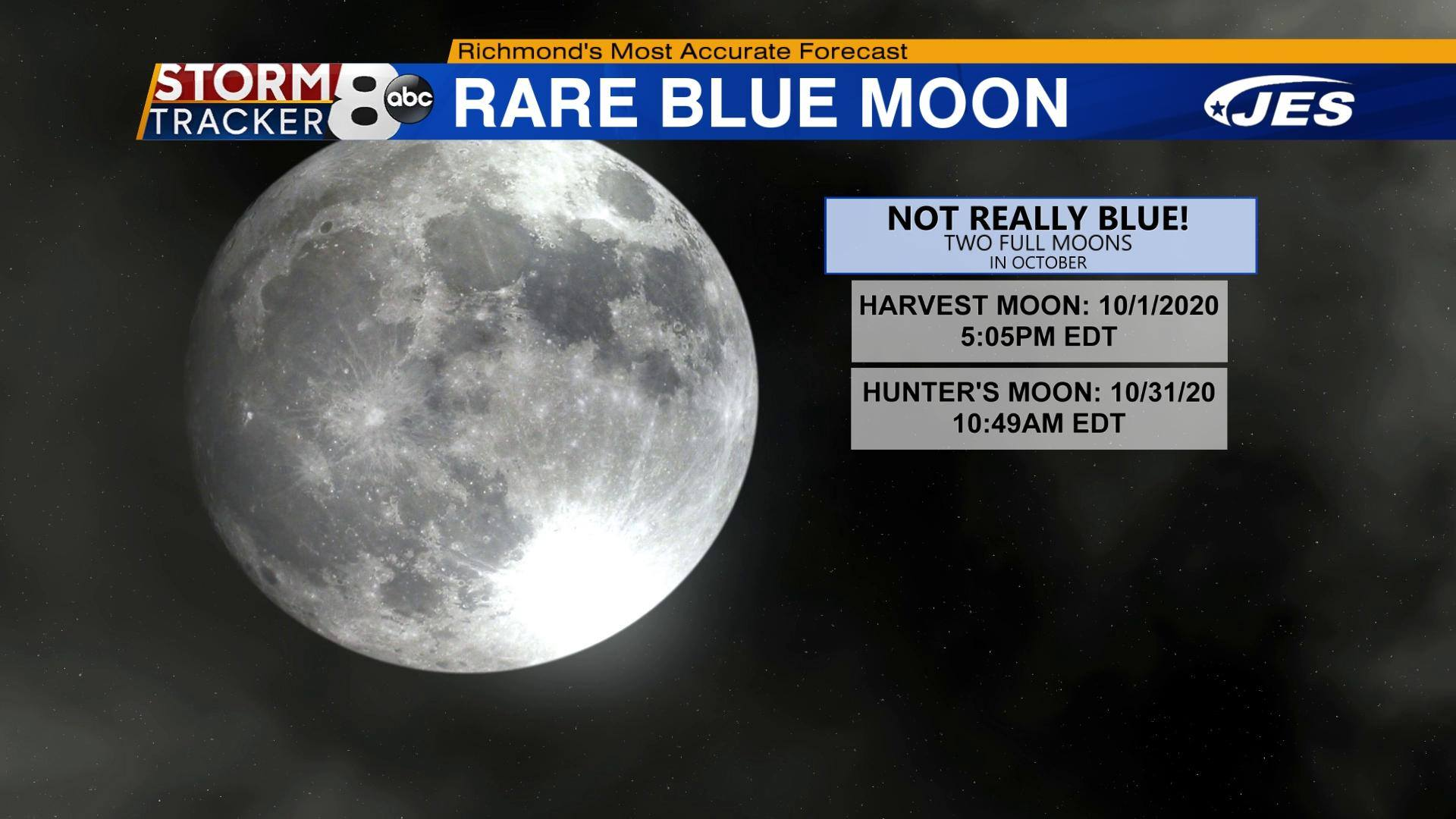 Recent s In Richmond Va Week Of Halloween 2020 A rare Halloween blue moon is in store for us this year | 8News