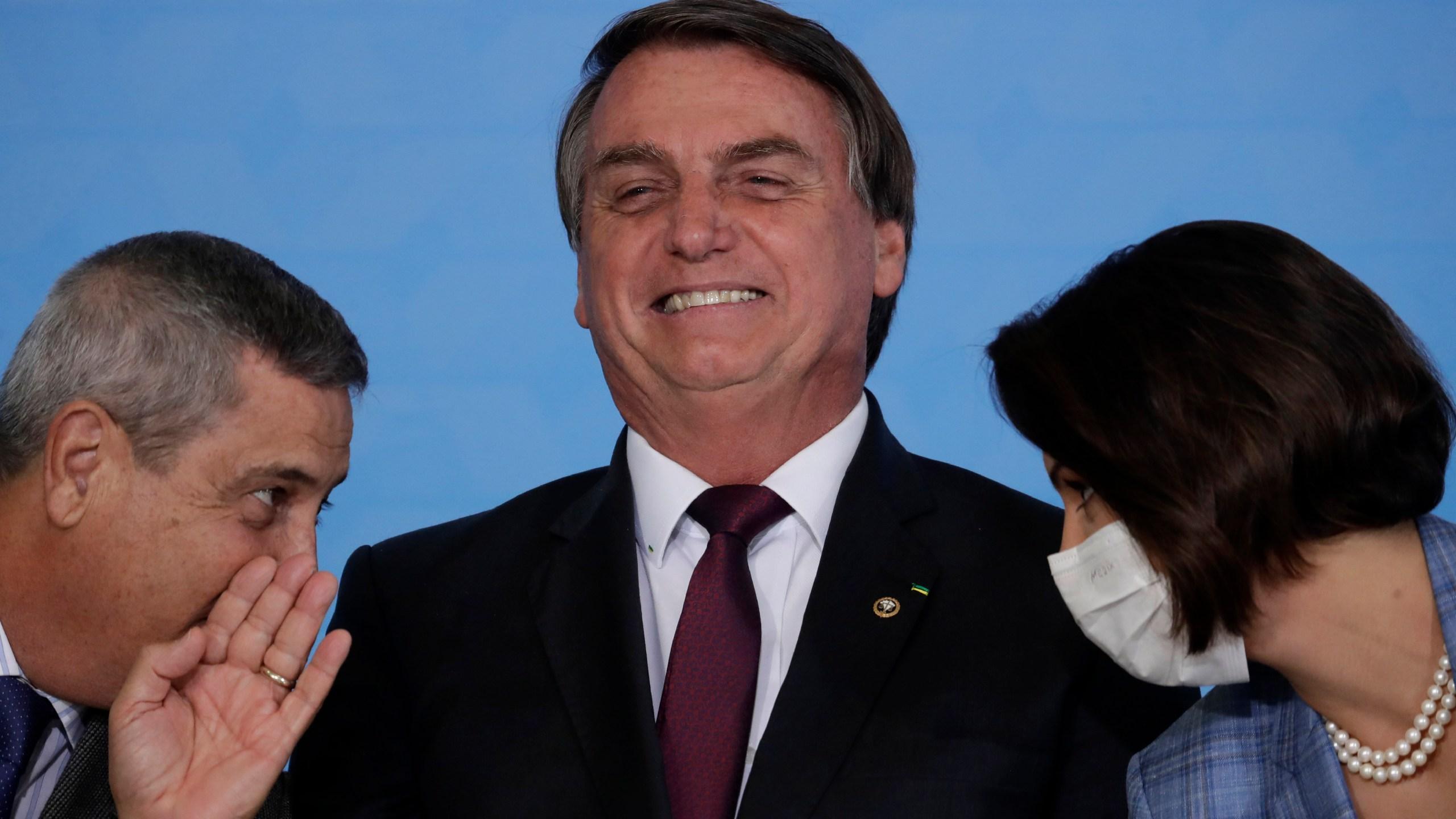 Jair Bolsonaro, Braga Netto, Michelle Bolsonaro