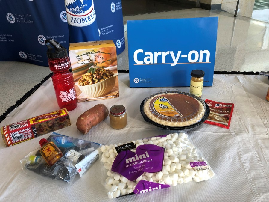 Carry-on thanksgiving foods