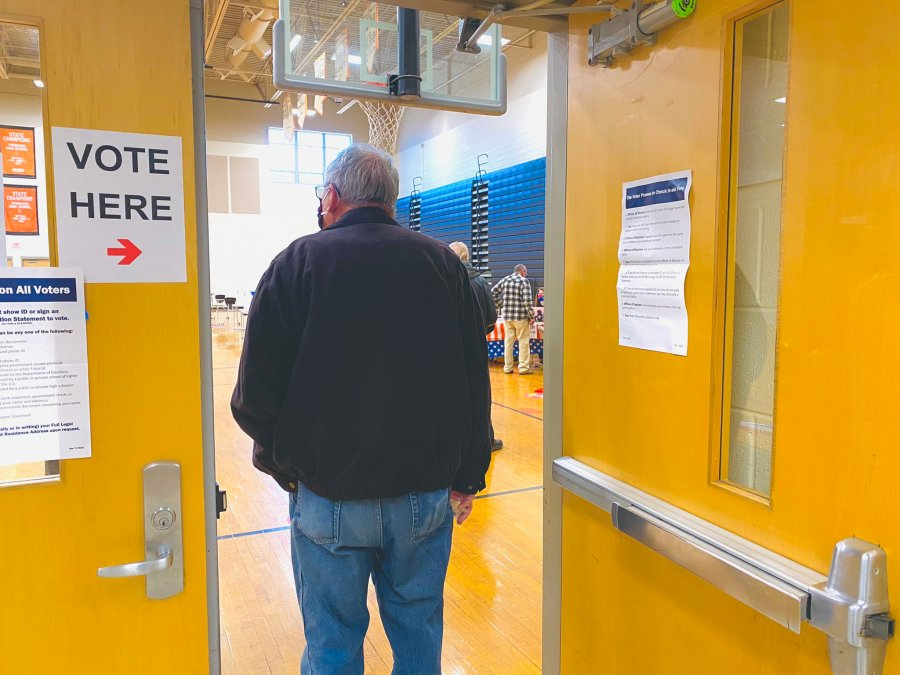 Powhatan High School polling place on election day Nov. 3, 2020