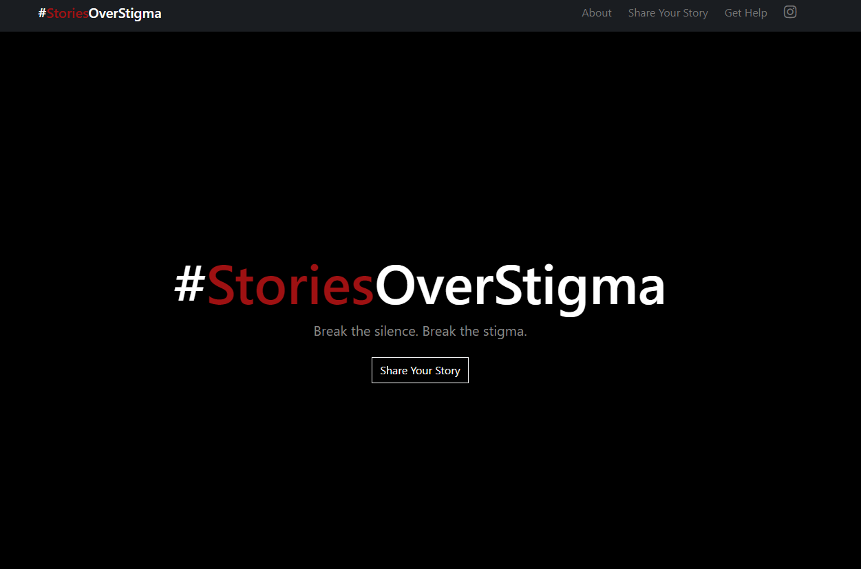#StoriesOverStigma web page