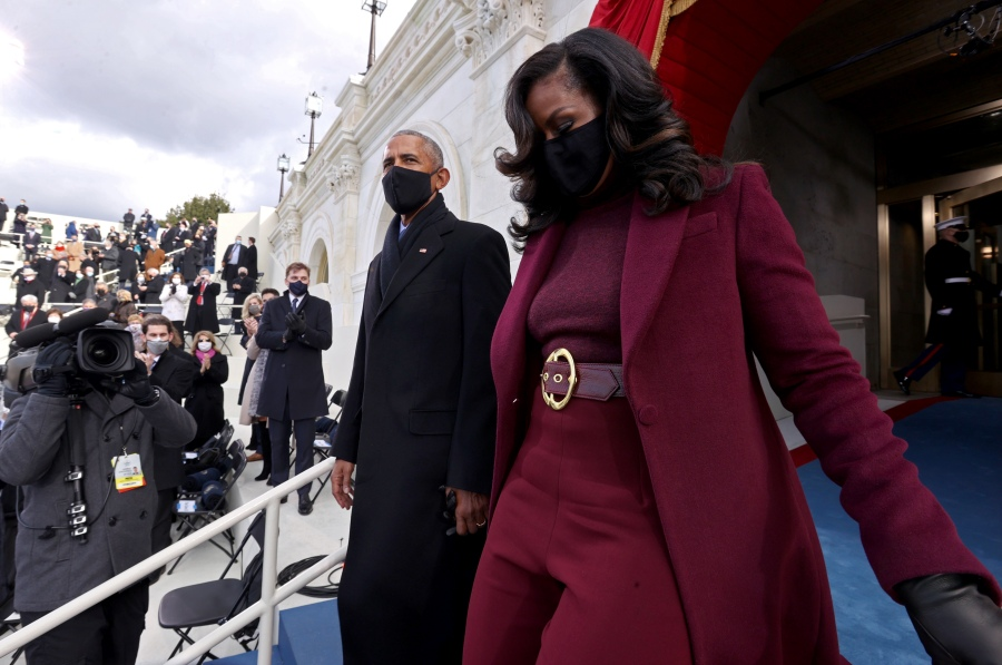 Former U.S. President Barack Obama and former First Lady Michelle Obama