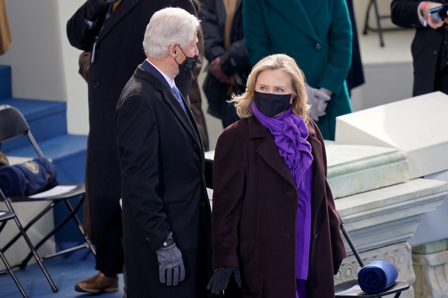 Former President Bill Clinton and former First Lady and Secretary of State Hillary Clinton