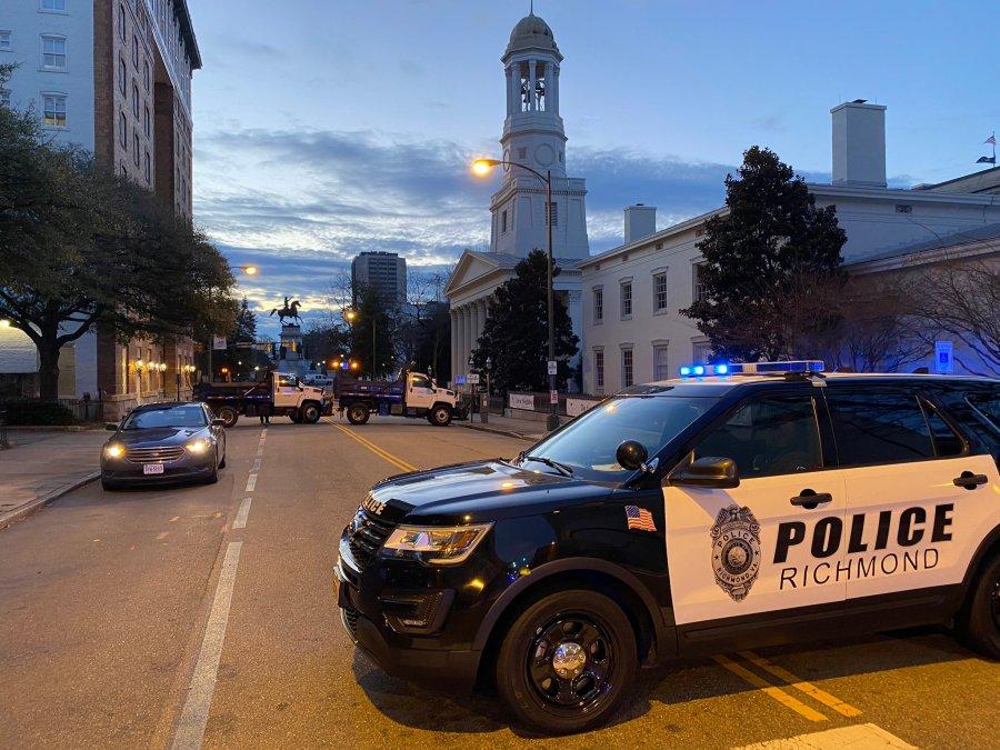 Police blocking off roads