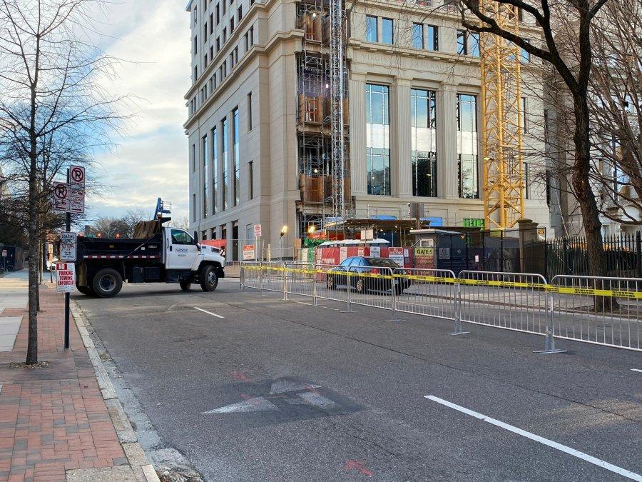 VDOT trucks at Lobby Day