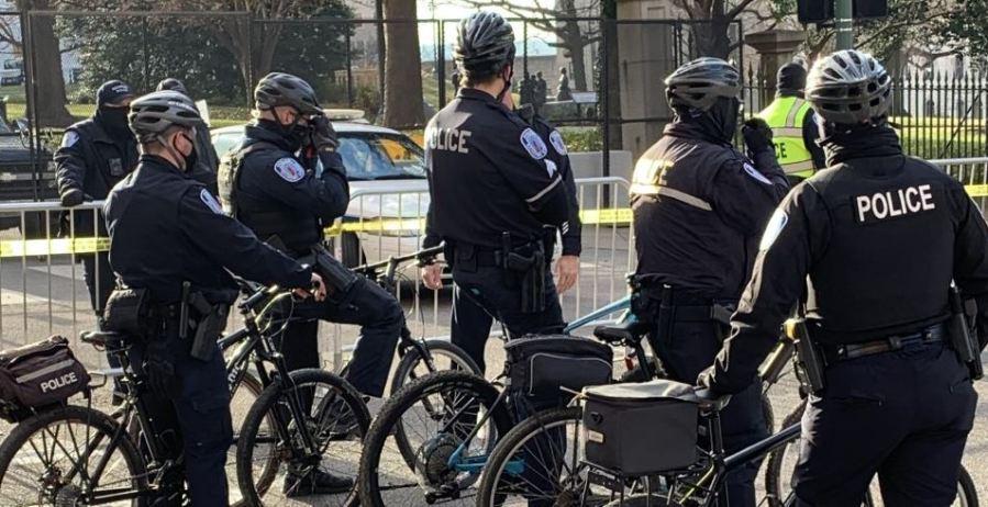 police patrol at lobby day