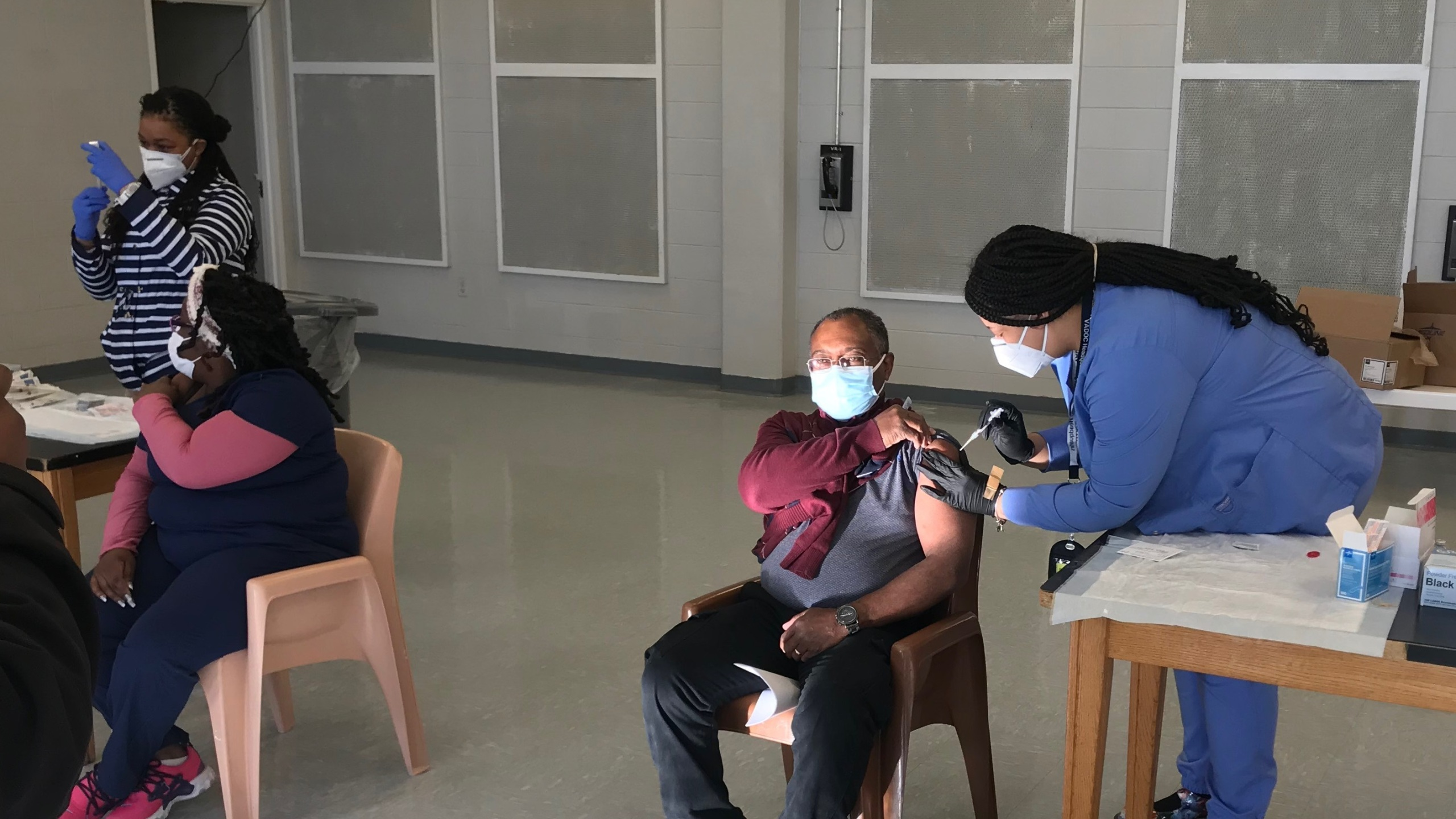 vaccinating staff