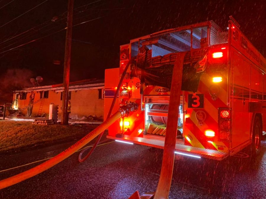 Chesterfield County Fire and EMS on Strathmore Road overnight. (Photo by Chesterfield County Fire and EMS)