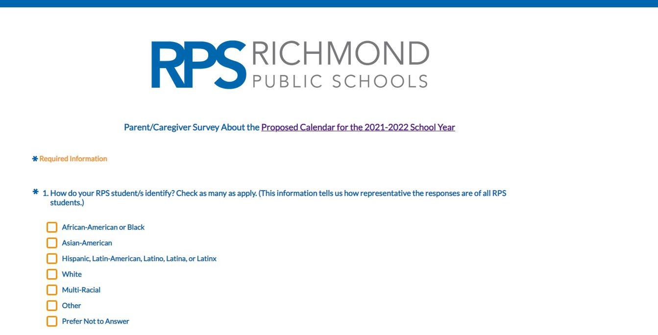 Vcu Calendar 2022.Voice Your Opinion Rps Asking For Feedback On Proposed 2021 22 School Calendar 8news