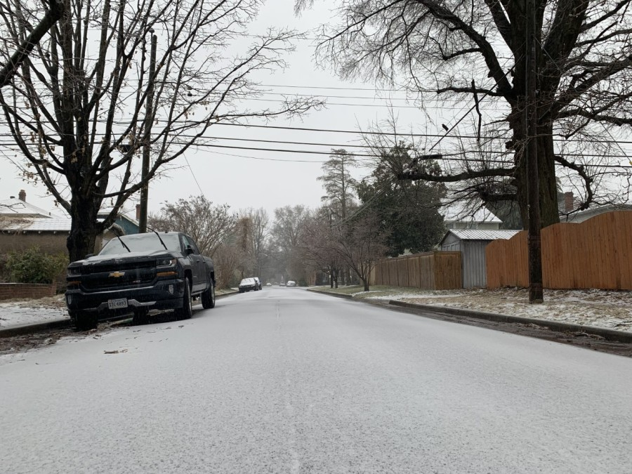 An untouched road from Thursday's winter weather. (Photo from 8News)