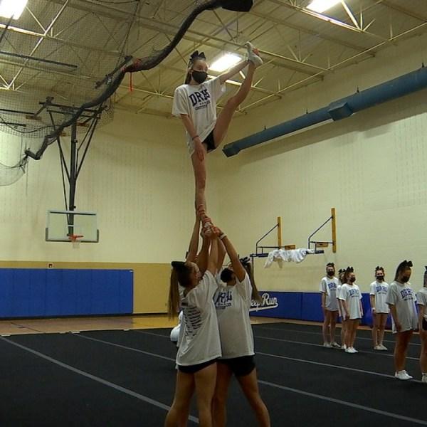 Deep Run Wildcats cheer practice