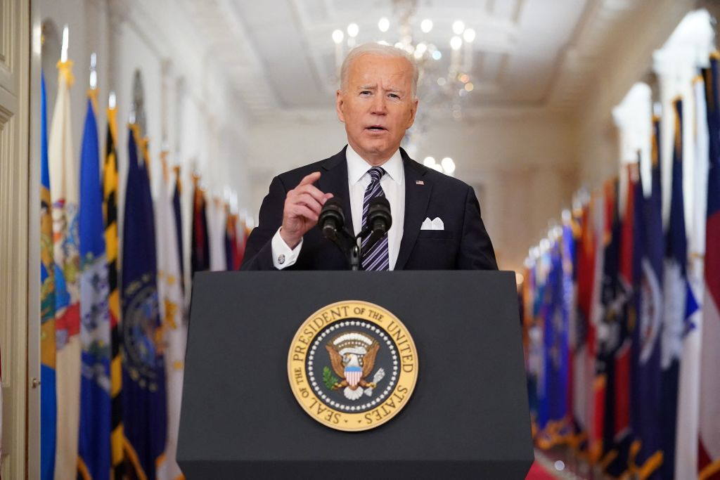 President Biden sets goal to return 'closer to normal' by July 4 in address to nation