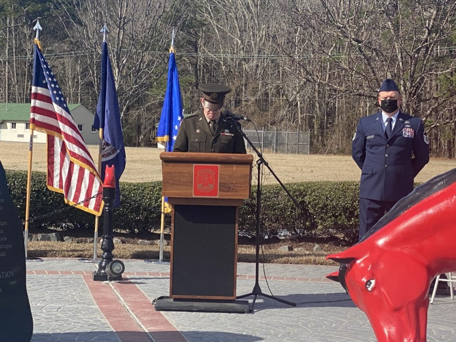 Virginia National Guard honors Airmen, Soldiers killed in a plane crash 20 years ago. (Photos by 8News' Rachel Keller)