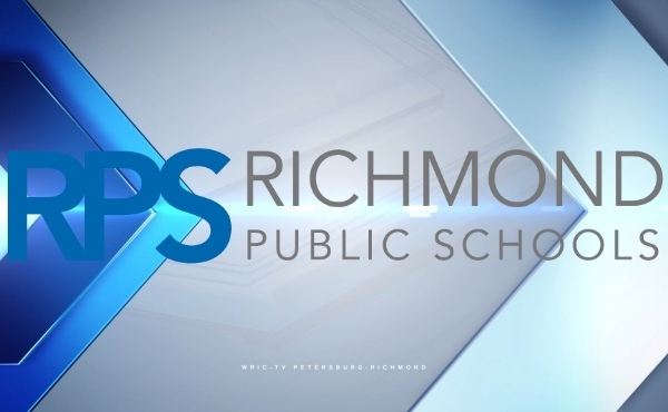 Richmond Public Schools 2021 logo on 8News background