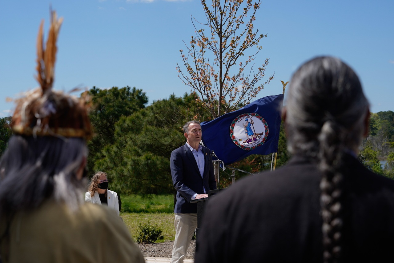 Governor Northam, Native American tribes celebrates the opening of Virginia's 40th state park