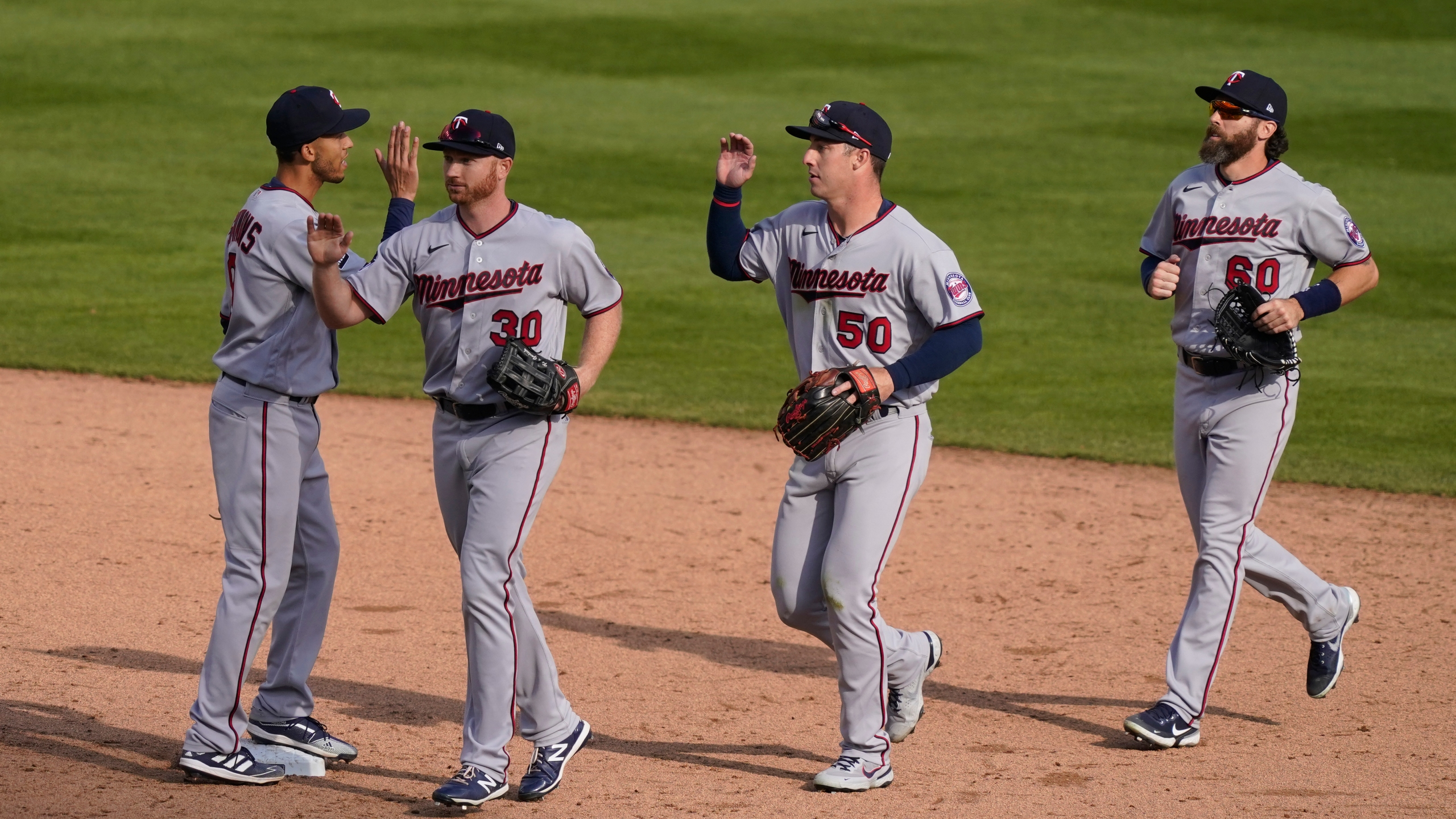 Andrelton Simmons, Kyle Garlick, Brent Rooker, Jake Cave