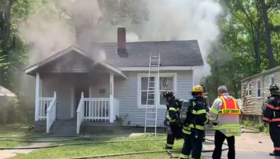 Front of the house that caught on fire. (Photos by Richmond Fire Department)