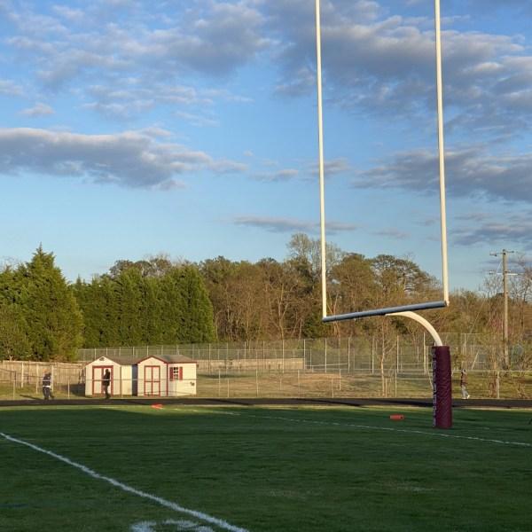 football field Thomas Dale High School