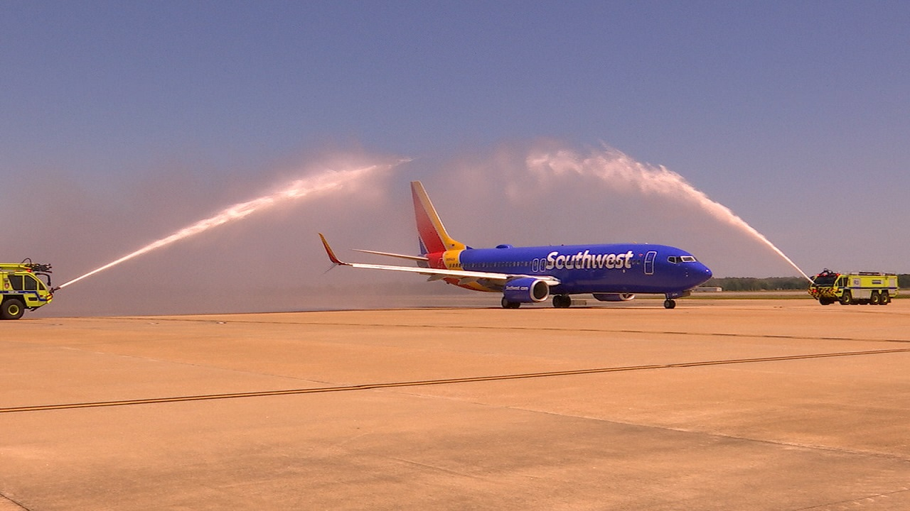 Southwest Airlines inaugural flight from RIC to DEN