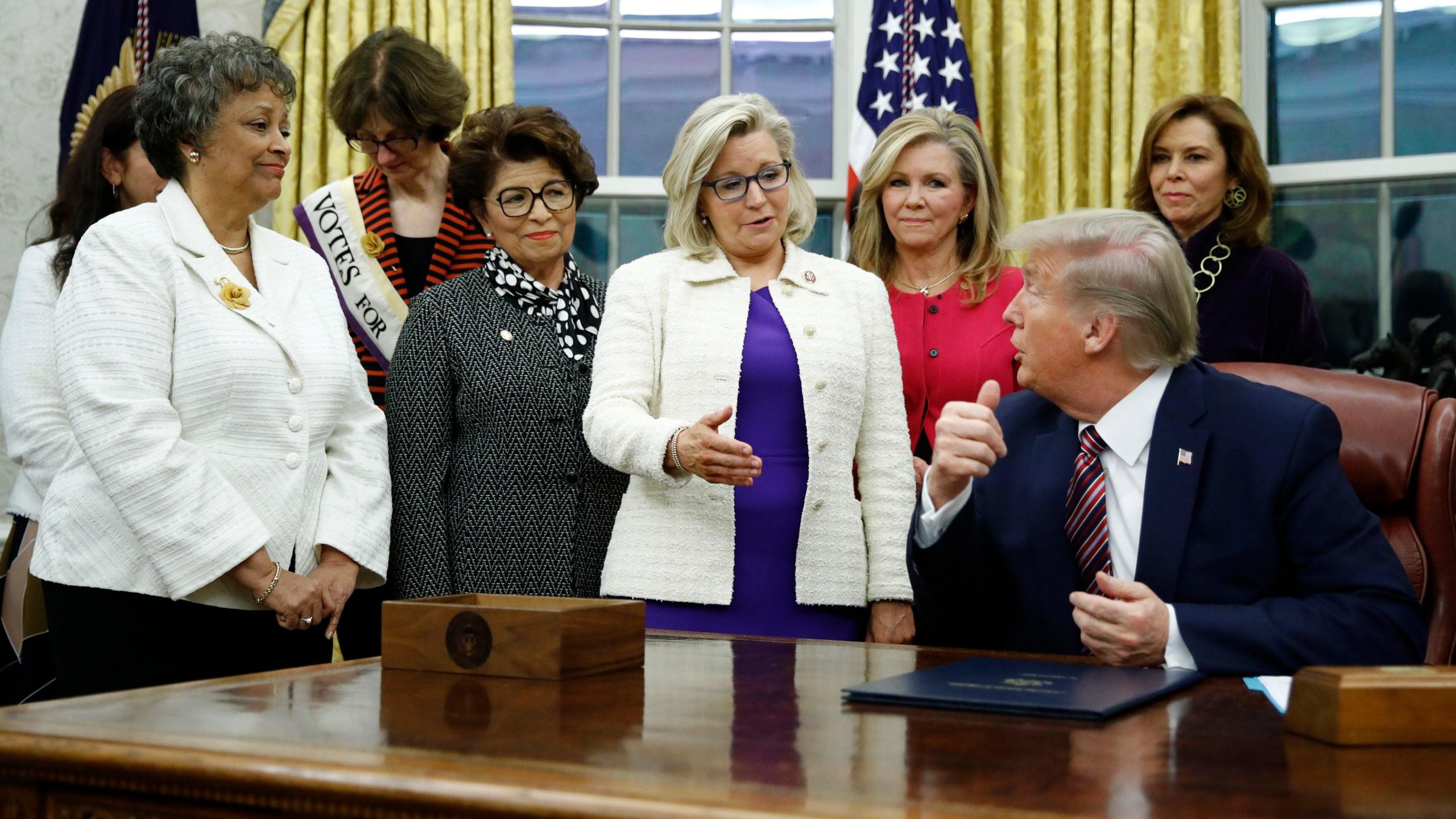 Donald Trump, Liz Cheney
