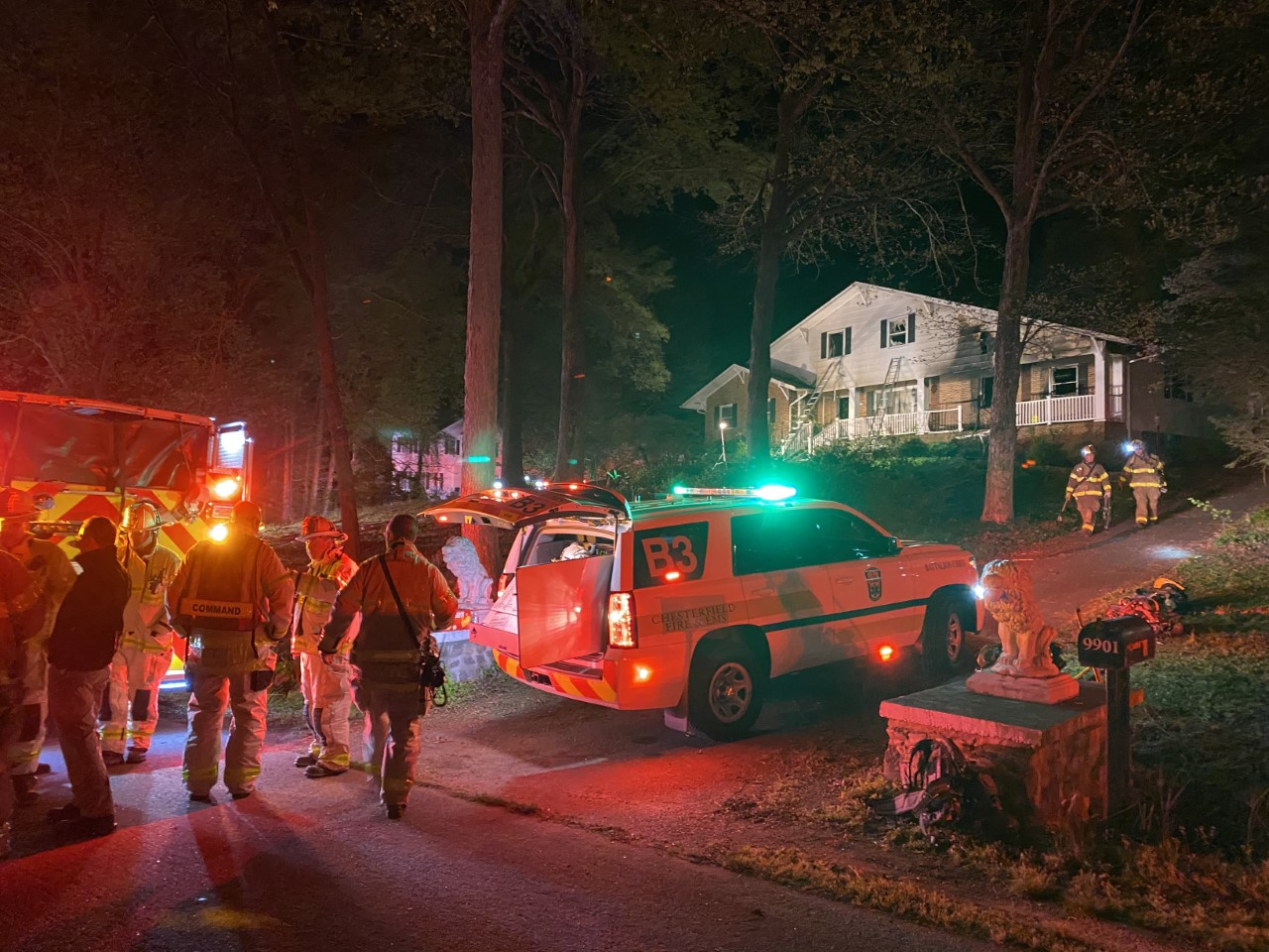 Chesterfield glass house fire