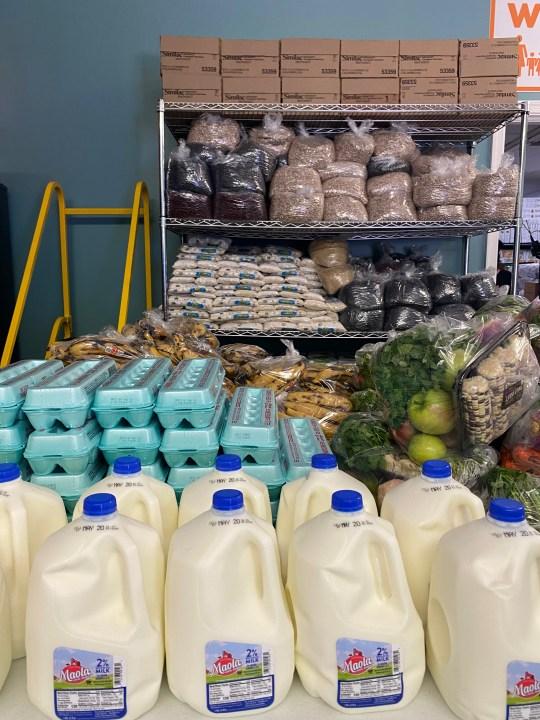 milks and food