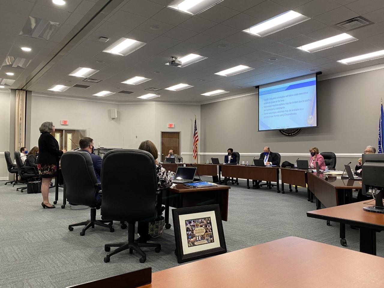 Hanover County School Board meeting Jennifer Greif speaks