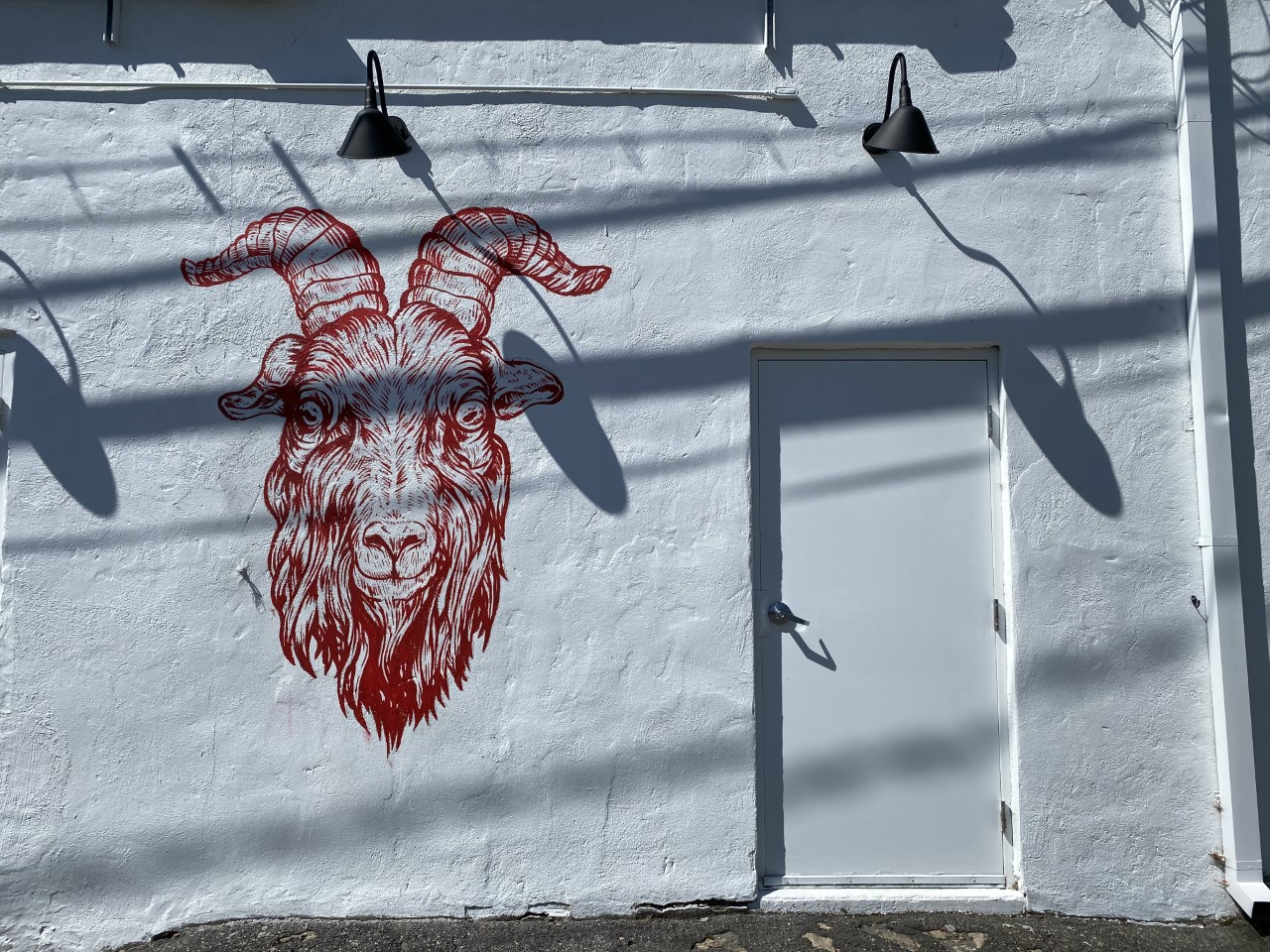 Red Goat Pizza mural