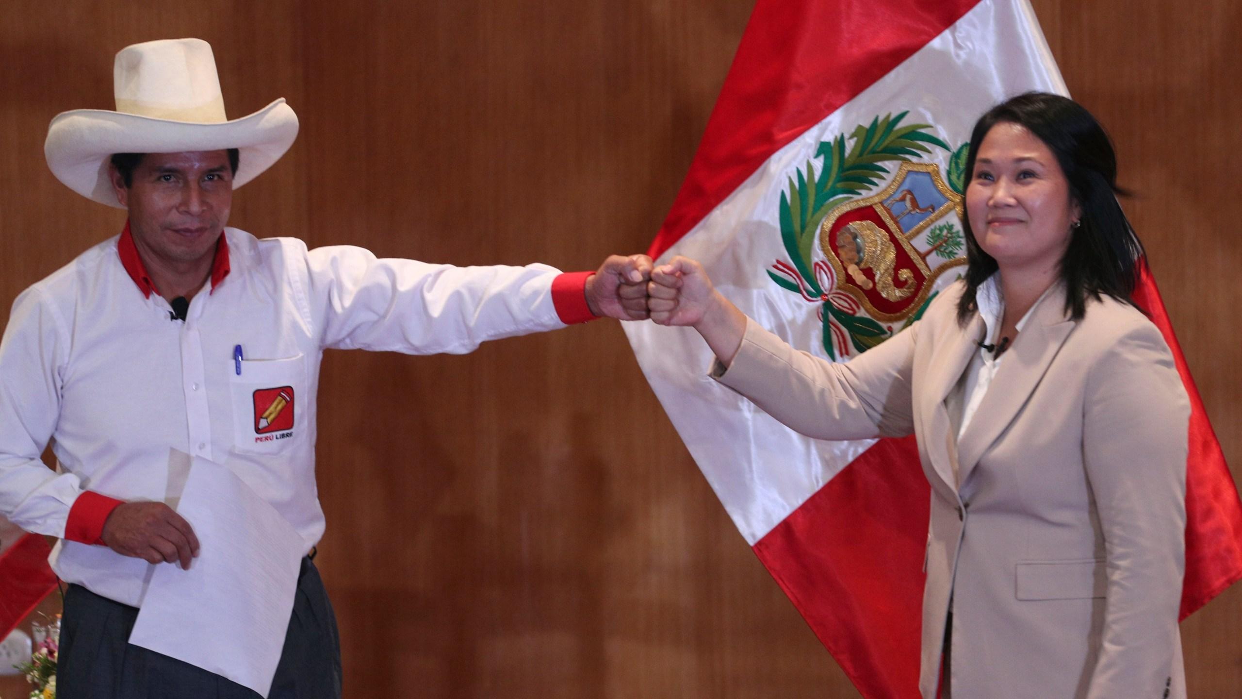 Keiko Fujimori, Pedro Castillo