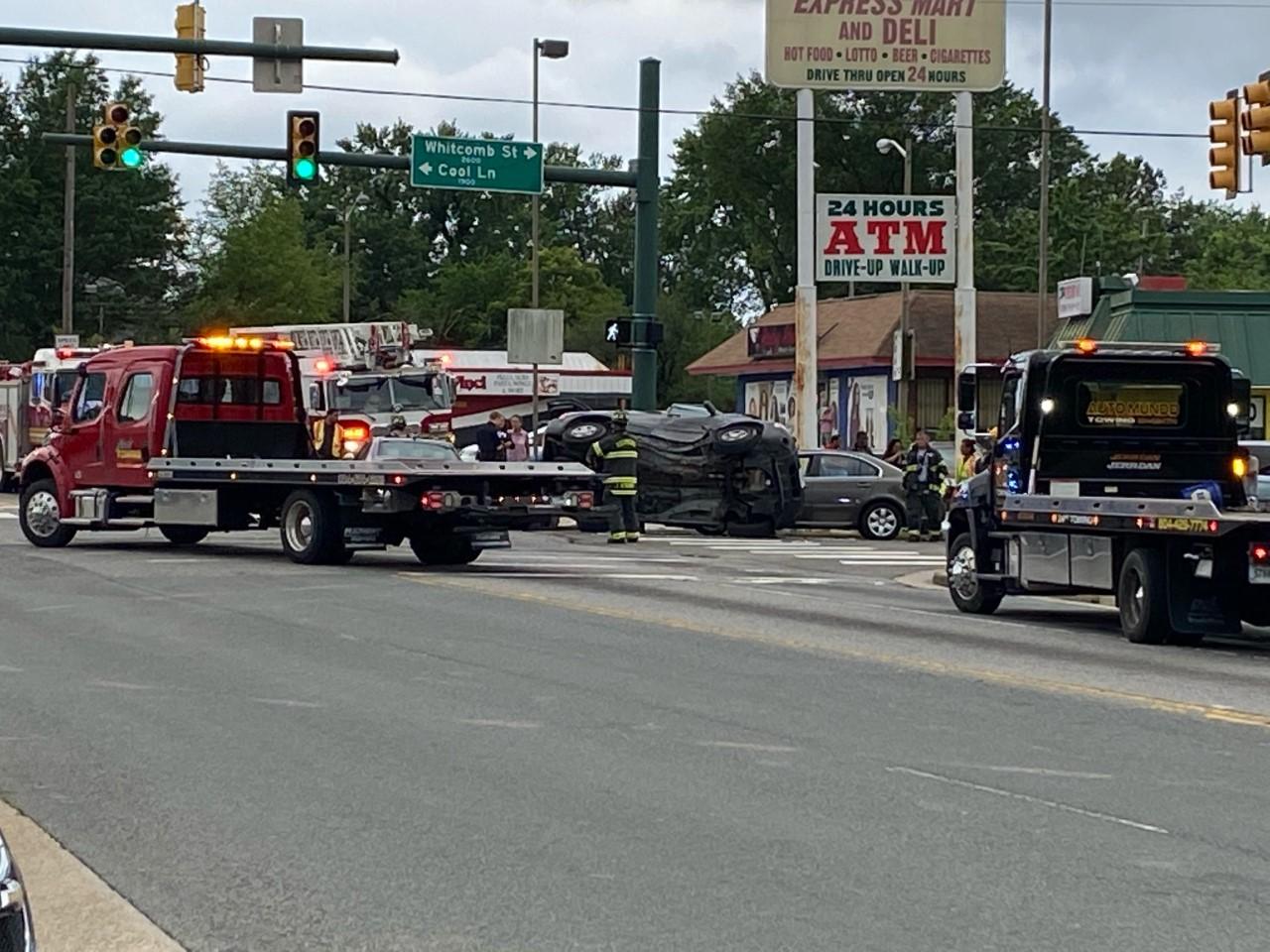 Three people taken to hospital after multi-vehicle crash ...