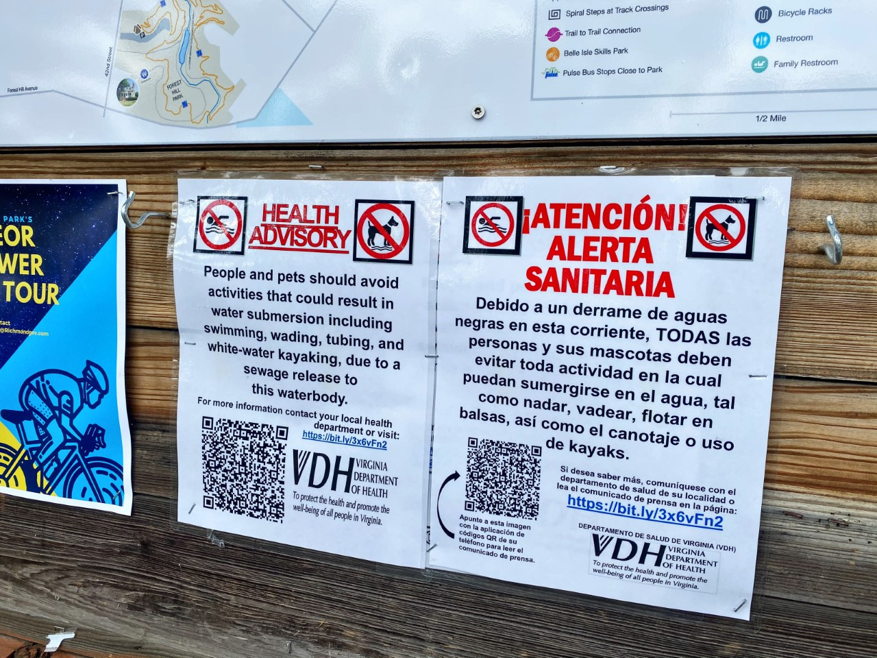 Health officials test bacteria levels in James River and Tuckahoe Creek, VDH advisory will stay