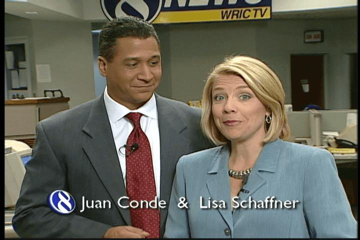 Juan Conde and Lisa Schaffner from WRIC 8News