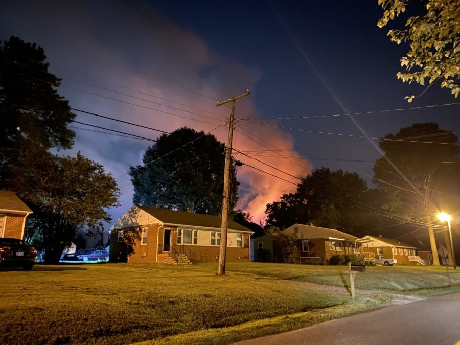 home in flames