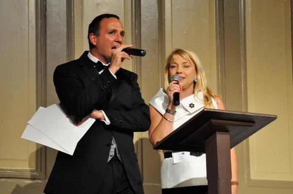 Lisa Schaffner and 8News Meteorologist Matt DiNardo co-hosting Cure by Design for the American Cancer Society in 2012
