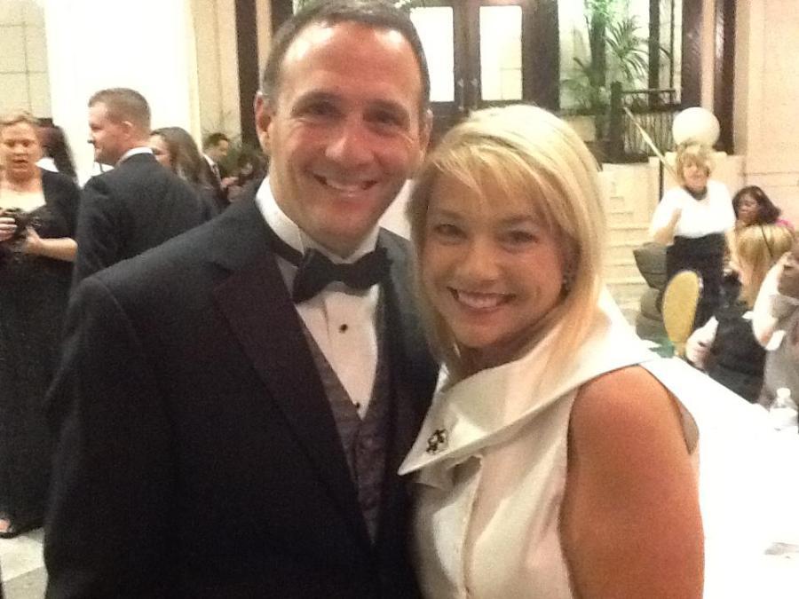 Lisa Schaffner and 8News Meteorologist Matt DiNardo